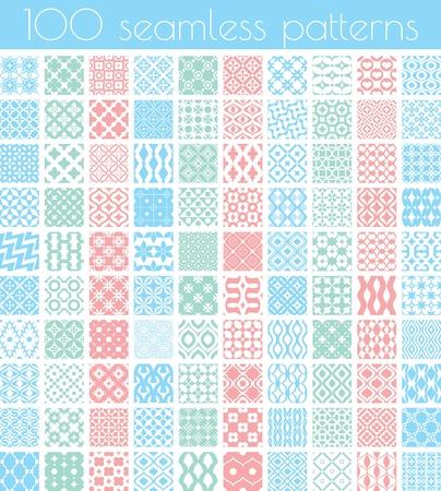 seamless pattern: Set of 100 vector seamless patterns