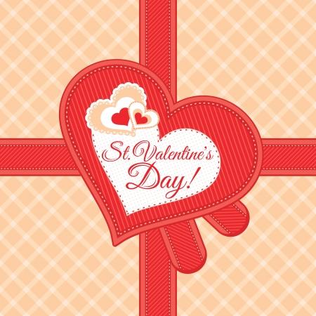 Vintage Valentines day card vector illustration Vector
