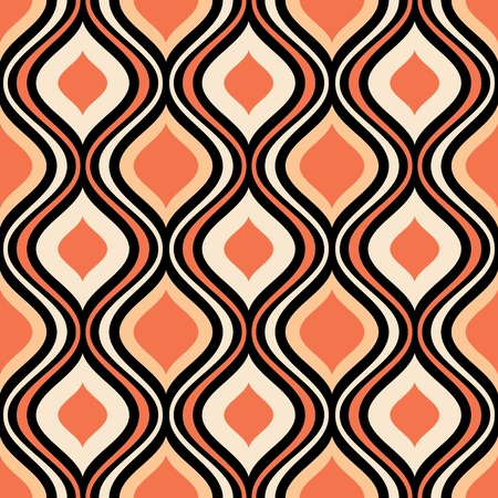 abstract seamless ornament pattern vector illustration Stock Vector - 21960192