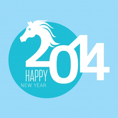 Year of the horse card vector illustration Stock Vector - 22439290