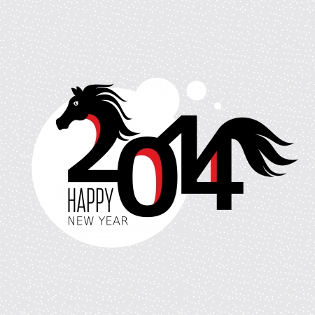Year of the horse card vector illustration Stock Vector - 22439303