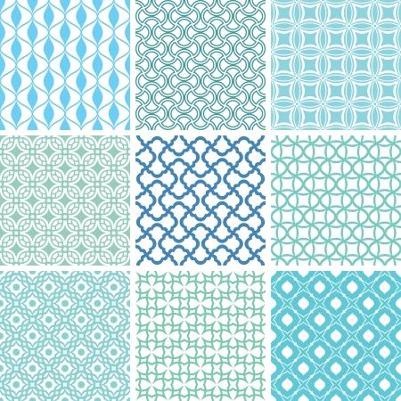 抽象的なシームレス パターン ベクトル イラストのセット  イラスト・ベクター素材