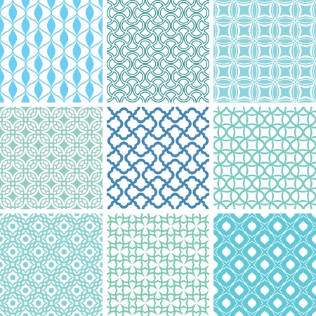 set of abstract seamless patterns vector illustration Stock Vector - 22603423