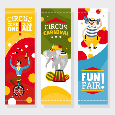 Funfair banners illustration Vector