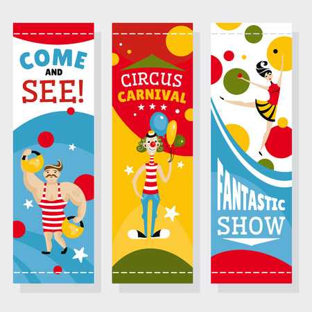 Circus banners illustration Illustration