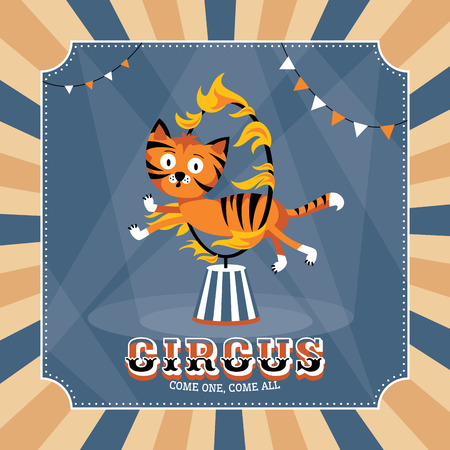 Vintage circus card vector illustration Vector