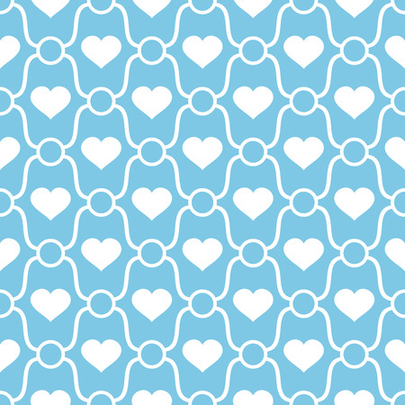 abstract seamless ornament pattern with hearts vector illustration Vector
