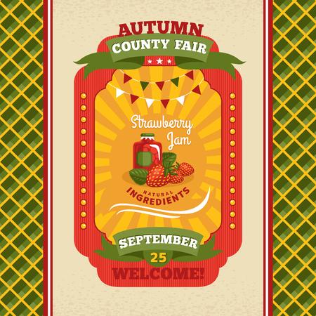 County fair vintage invitation card illustration Illustration