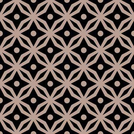 black pattern: abstract seamless ornament pattern vector illustration Illustration