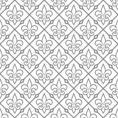 Seamless pattern with fleur-de-lis. Vector illustration