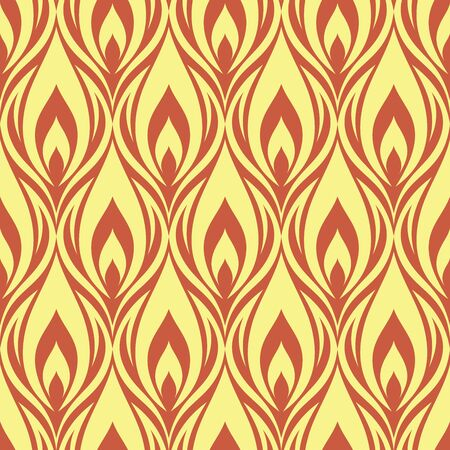 Seamless pattern with fire elements. Vector illustration