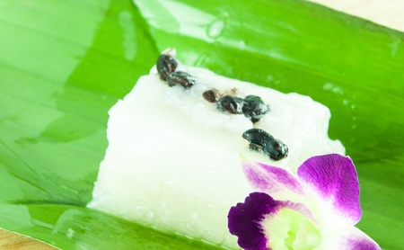 thai dessert: Glutinous rice with coconut milk tradition thai dessert