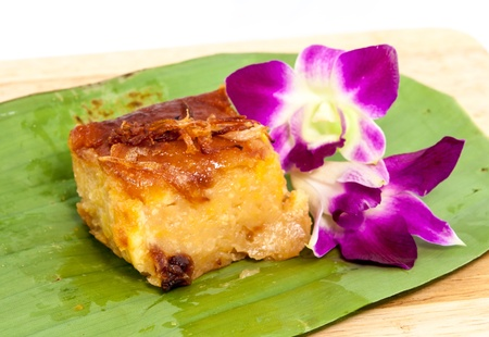 Mung bean thai custard dessert recipe photo