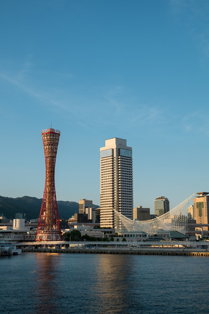 Kobe Port tower in the evening Stock Photo - 22715695