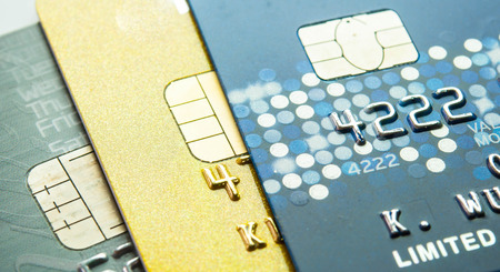 bankcard: Creit card for background. Stock Photo