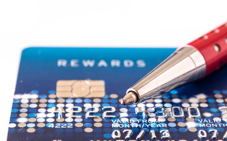 credit card and pen for background photo