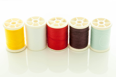 cotton thread on isolated withe background  photo