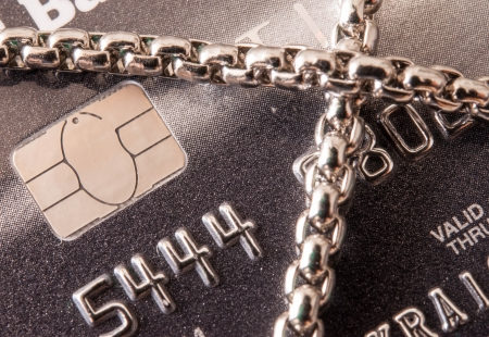 lock credit card by chain