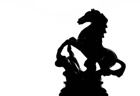 silhouette of statue horse photo