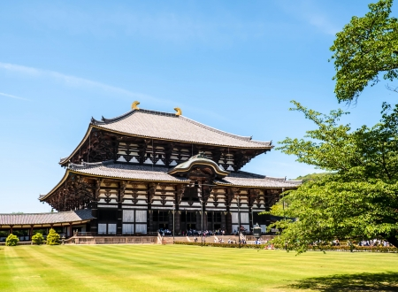 buddhist structures: todai-Ji tmeple the big chrunch and world heritage on Japan Stock Photo
