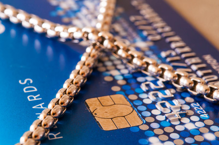 creditcard: Creditcard chain lock background