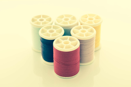 withe background: cotton thread on isolated withe background. Stock Photo
