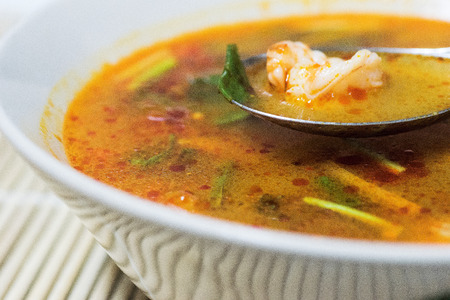 Tom Yum  - Thai hot and spicy soup with shrimp by Homemade photo