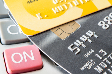 credit card on calculator photo