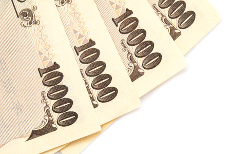 japanese currency: Close Up Japanese currency