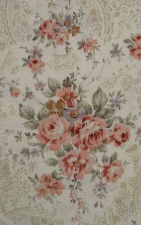 flower on fabric texture vintage style photo