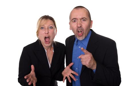 Man and woman shouting loud Stock Photo - 24346248