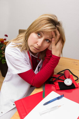 Nurse totally exhausted and stressed