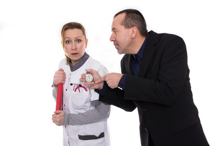 Boss stops time with nurse photo