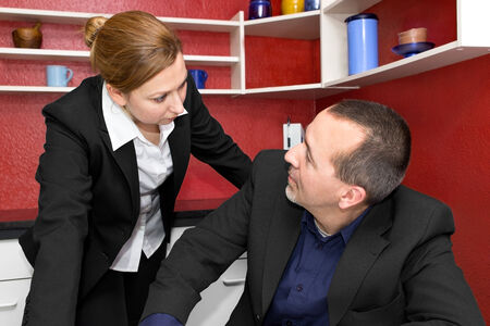 role reversal: Boss is upset about her employee