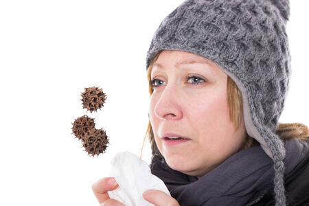 Woman is getting sick due to viruses and bacteria