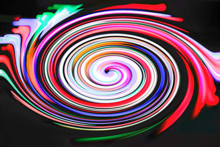 spiritually: A colorful spiral on a black background