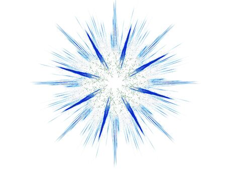 Computer generated illustration: rendered flower fractal in beautiful colors, isolated on white.