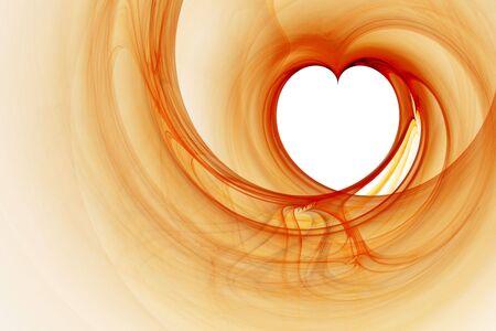 Beautiful computer generated illustration:3D rendered valentine heart fractal. Stock Illustration - 2398150