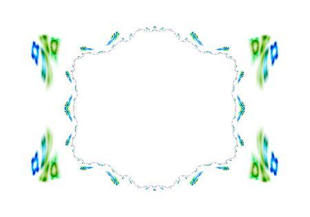 Computer generated illustration: beautiful rendered fractal, painted floral frame-like. Stock Illustration - 2436065