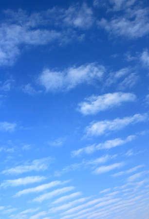 altocumulus: Altocumulus clouds captured on a gradient blue sky.