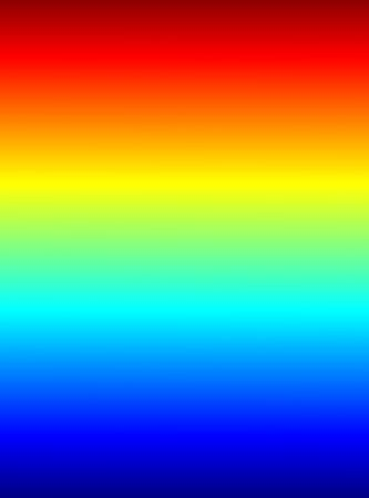 2D rendered spectral bands of the light. Stock Photo