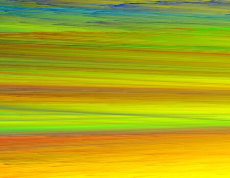 2D rendered fractal-expressionism  painting-like, representing colorful fields in summer tones.