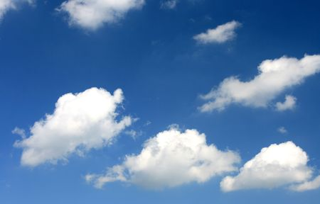 captured: Clouds captured on a beautiful blue sky.