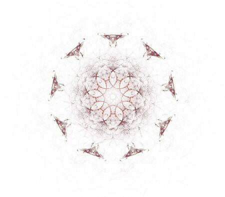 3D rendered complex mandala flower fractal, isolated on white background. Stock Photo - 3610116