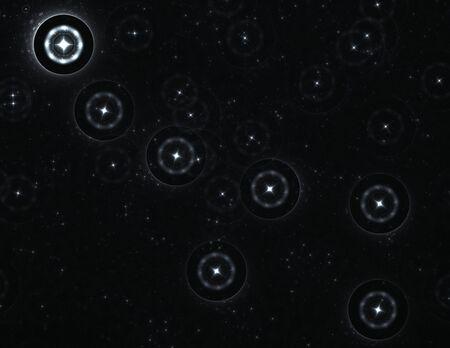 ursa:  Ursa Minor (Little Dipper) constellation with the bright Polaris star: 3D rendered fractal.
