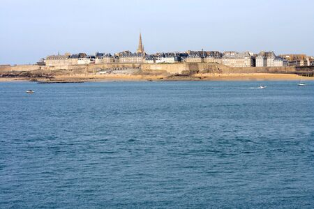 View of St. Malo from Dinard (Brittany, France).