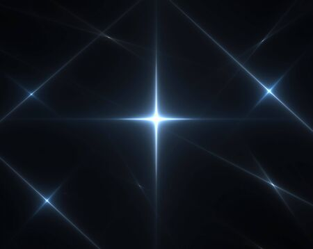 3D rendered fractal, bright star in night-like. photo
