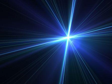 radiating: 3D resi frattale, luminosa stella a notte piace.