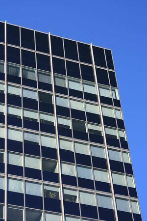 vertical orientation: Modern offices building - vertical view.
