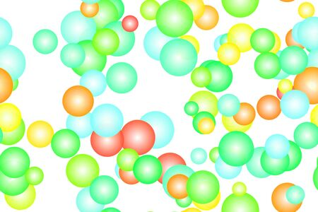 sharp: Abstract illustration: colorful bubbles on white background.